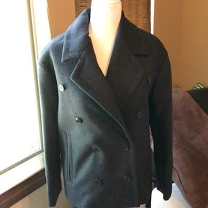JCrew Melton Wool Peacoat
